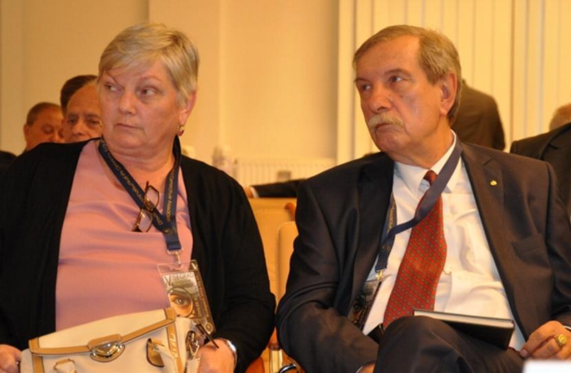Dr. Magyariné Dr. Nagy Edit és Dr. Janza Frigyes a konferencián