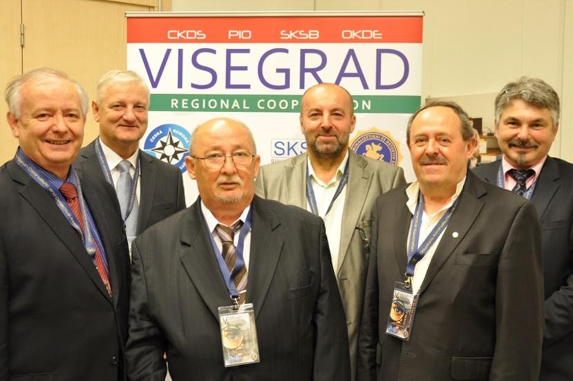 a Visegrádi V4 Detektívek Együttműködés delegációi